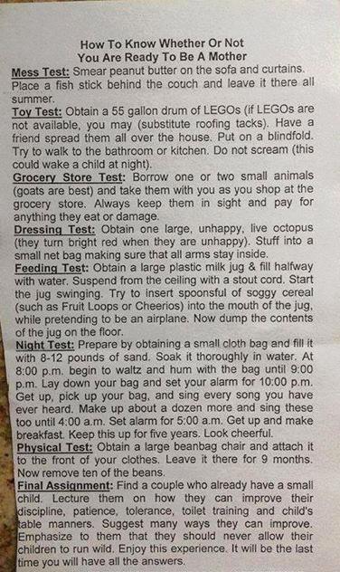 Motherhood Test